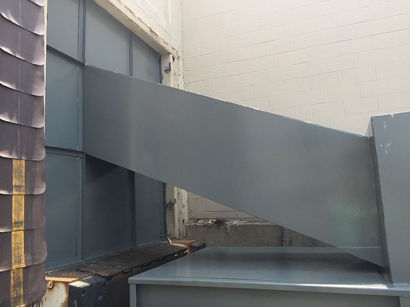 Custom Steel Wall with Trash Chute